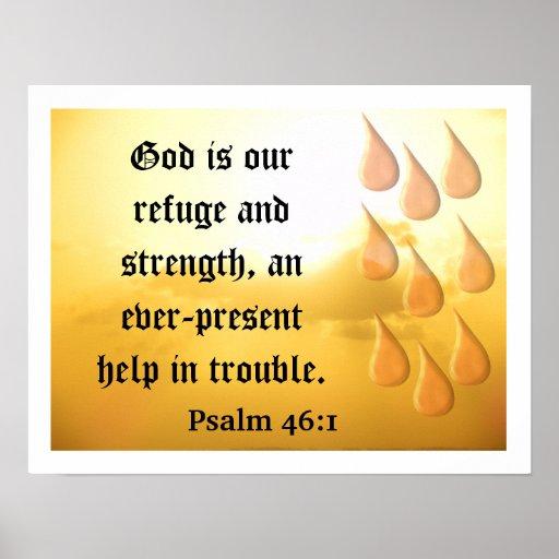 Dios es nuestro refugio póster