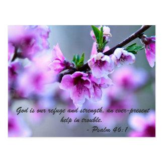 Dios es nuestro refugio y fuerza, un omnipresente tarjeta postal