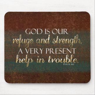 Dios es nuestro verso cristiano Brown/oro de la Alfombrillas De Ratón