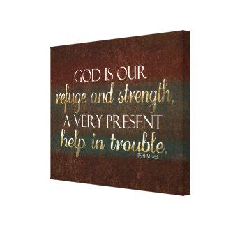 Dios es nuestro verso cristiano Brown/oro de la Impresiones De Lienzo