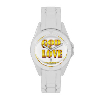 Dios es oro de Agrainofmustardseed.com del amor Reloj