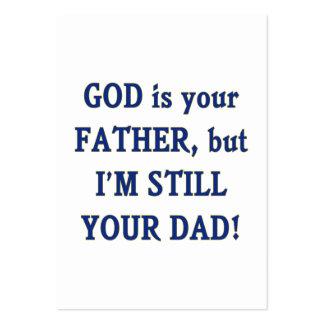 Dios es padre que sigo siendo papá tarjeta de visita
