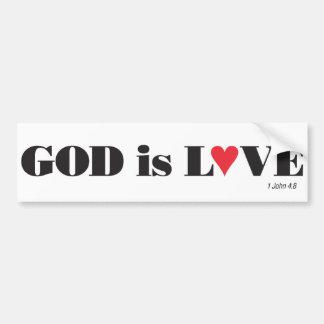 Dios es pegatina para el parachoques del amor etiqueta de parachoque