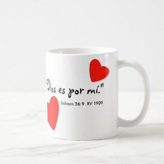 """""""Dios es por mí"""" Tazon Mug"""