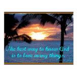 Dios es postal del amor