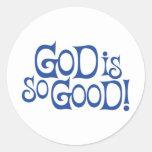 Dios es tan bueno - los pegatinas pegatinas redondas