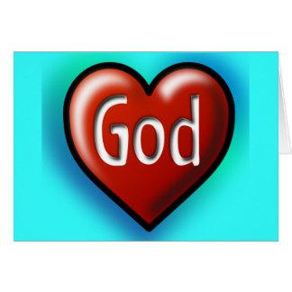 Dios es tarjeta de felicitación del amor