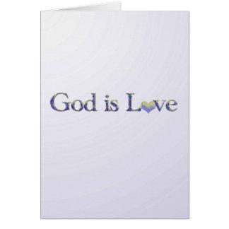 Dios es tarjeta de nota del amor