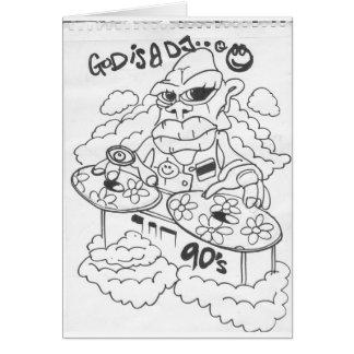 dios es un dj_0005 tarjeta de felicitación