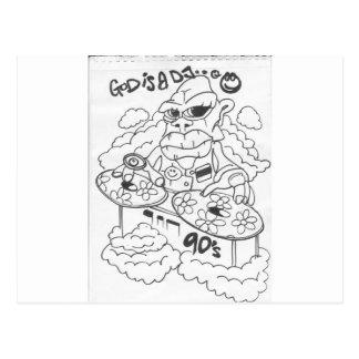 dios es un dj_0005 tarjetas postales