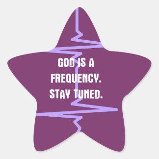 Dios es una frecuencia. Tono adentro Calcomanía Forma De Estrella