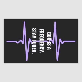 Dios es una frecuencia. Tono adentro Rectangular Altavoz