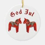 ¡Dios escandinavo julio del caballo de Dala del na Ornaments Para Arbol De Navidad