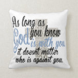 Dios está con usted almohadas