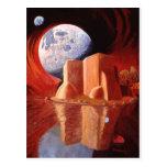 Dios está en la luna tarjeta postal