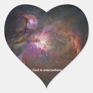 Dios está por todas partes - pegatina de la