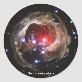 Dios está por todas partes - pegatina del eco