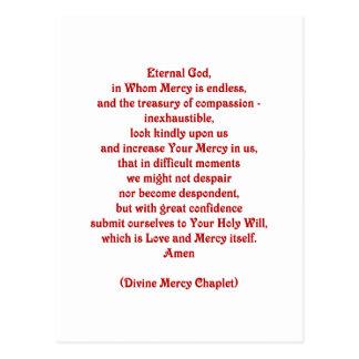 Dios eterno en quien la misericordia es sin fin… postal