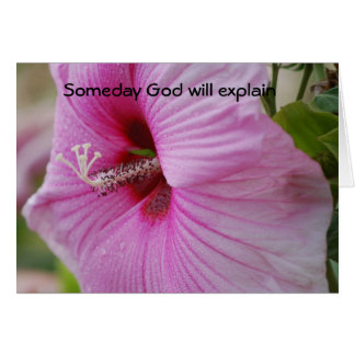 Dios explicará algún día tarjeta de felicitación