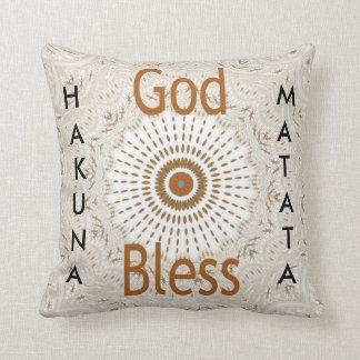 Dios feliz de Christma bendice los regalos de Cojín Decorativo