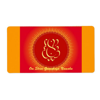 Dios Ganesha con los rayos del sol Etiquetas De Envío