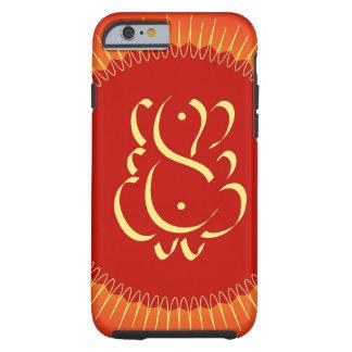 Dios Ganesha con los rayos del sol Funda De iPhone 6 Tough