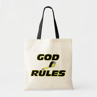 Dios gobierna el regalo cristiano bolsa tela barata