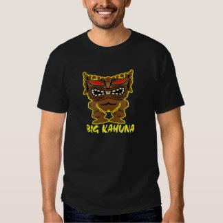 Dios grande negro de Kahuna Tiki Camisas