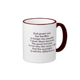Dios Grant yo humor Tazas De Café