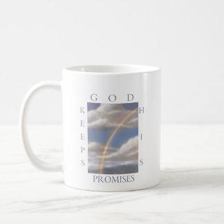 Dios guarda su taza del arco iris de las promesas
