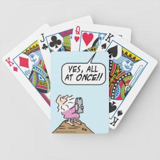 Dios ¡guarde diez mandamientos de una vez baraja cartas de poker