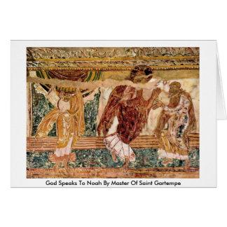 Dios habla a Noah por el amo del santo Gartempe Tarjeta