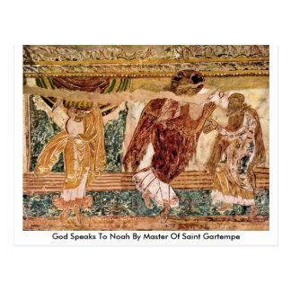 Dios habla a Noah por el amo del santo Gartempe Tarjetas Postales