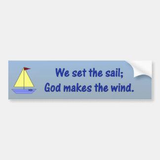 Dios hace el viento - pegatina para el parachoques etiqueta de parachoque