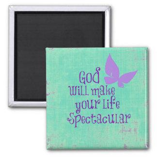 Dios hará su vida cita espectacular imán cuadrado