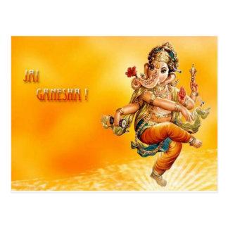 Dios hindú Ganesh Tarjeta Postal
