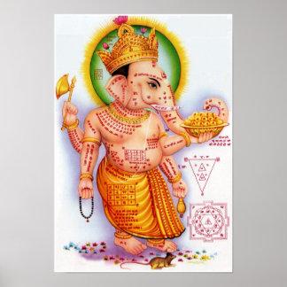Dios hindú Ganesha Poster