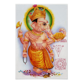Dios hindú Ganesha Póster