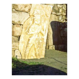 Dios hitita guarda la entrada, ciudad de Hattushas Tarjetas Informativas