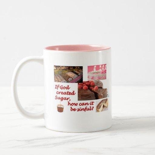 Dios hizo el azúcar tazas de café