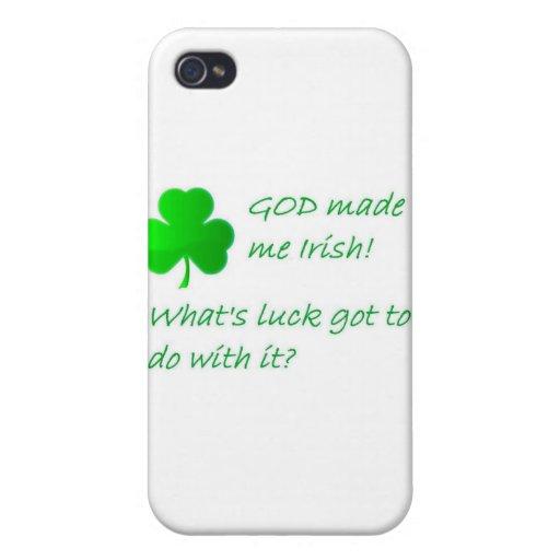DIOS hizo irlandés iPhone 4 Protectores