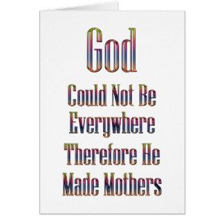 Dios hizo las madres la tarjeta (blanca)