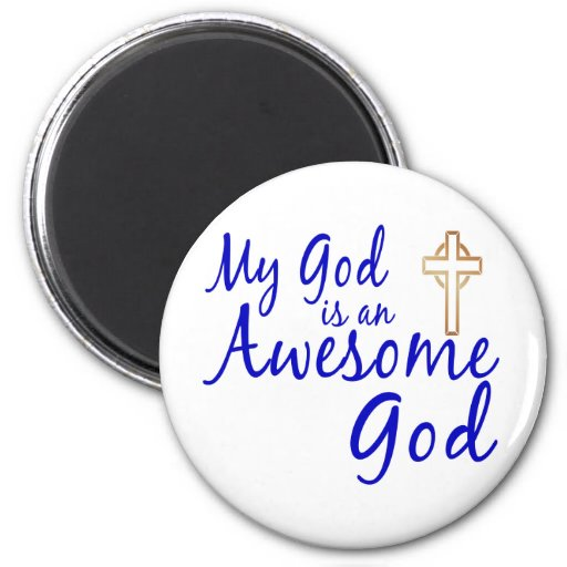 Dios impresionante imán redondo 5 cm