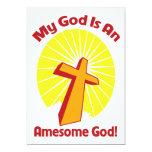 Dios impresionante invitación 12,7 x 17,8 cm