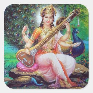 dios indio pegatinas cuadradases