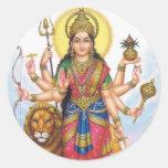 dios indio pegatina redonda