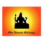 Dios indio Shiva - postal