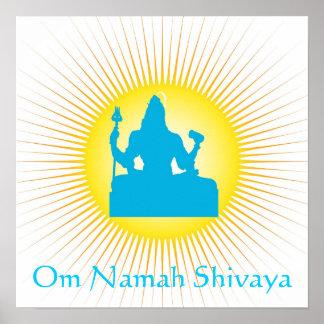 Dios indio Shiva Póster