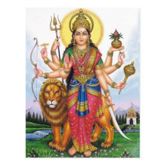 dios indio tarjeta postal