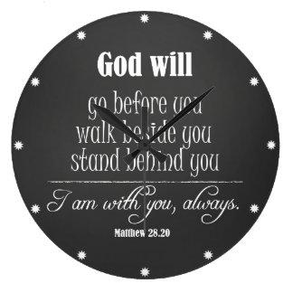 Dios inspirado citará con verso de la biblia reloj redondo grande